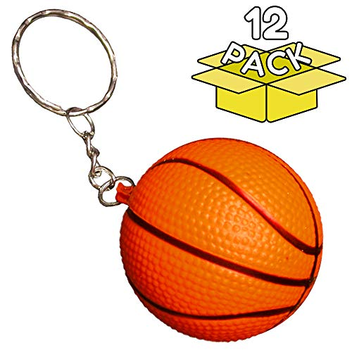 12 Pack | Basketball Keychains Bulk for Boys Girls Party Favors