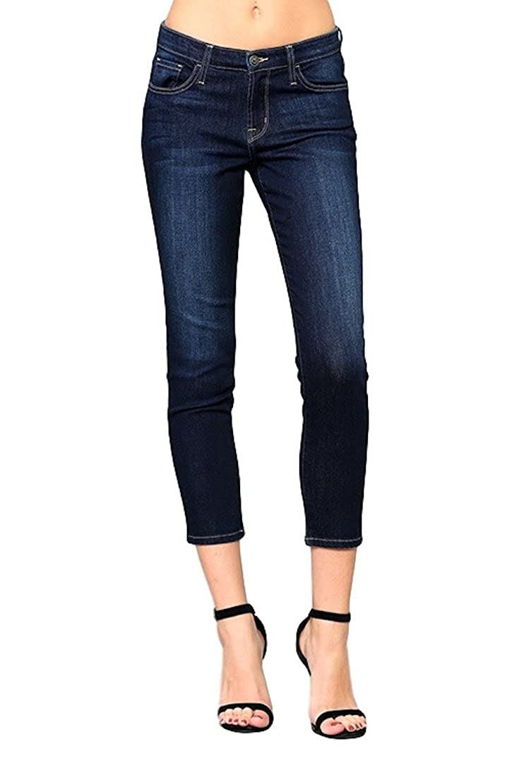 86b21c0d Dark wash with light whiskering and sand blasting. Skinny fit hips through  ankles with fantastic stretch. Basic 5 pocket styling with zip fly and  button ...