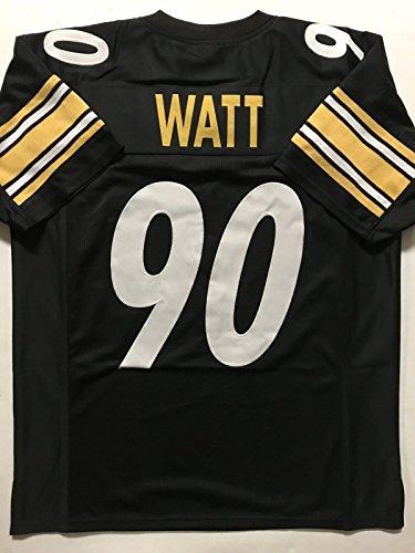 Unsigned TJ T.J. Watt Pittsburgh Black Custom Stitched Football Jersey Size Men's XL New No Brands/Logos ()
