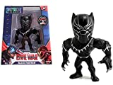 Marvel Avengers Captain America: Civil War Movie- Black Panther: Black with Silver (M47) Metals Die-Cast Collectible Toy Figure