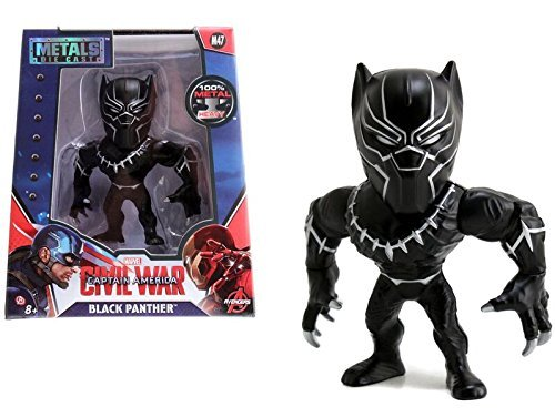 Marvel Avengers Captain America: Civil War Movie- Black Panther: Black with Silver (M47) Metals Die-Cast Collectible Toy Figure (The Cast Of Captain America Civil War)