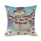 Merry Christmas Throw Pillow Cases Pgojuni Cushion Cover Cotton Linen Pillow Cover 1pc 45cmx45cm (A)