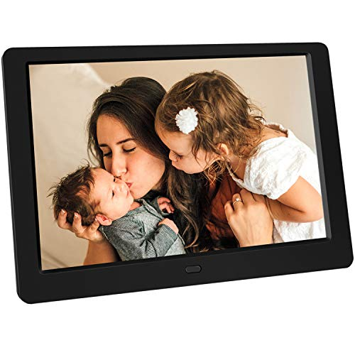 Tenswall 10 Inch Digital Photo Frame Upgraded HD 1280x800, Digital Picture Frame Full IPS Display Photo/Music/Video/Calendar/Time, Auto On/Off Timer, Support 32GB USB Drives/SD Card,Remote Control from Tenswall