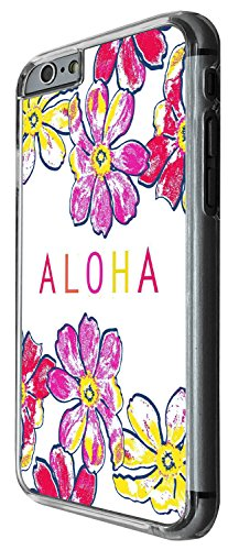 1282 - Cool Fun Trendy cute kwaii aloha hawaii holiday flowers Design iphone 4 4S Coque Fashion Trend Case Coque Protection Cover plastique et métal - Clear