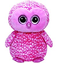 Large Plush TY36608-TY Beanie boo' S-Pinky The Owl by Ty