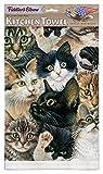 Kitten Faces 100% Cotton Eco-Friendly Dish Towel