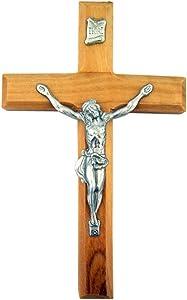 Olive Wood Jesus Christ Wall Cross Crucifix, 4 Inch