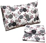 Tribeca Living Dahlia Floral Printed Deep Pocket Flannel Sheet Set, Queen