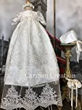 Venetian Baptism Gown Flower Decor.