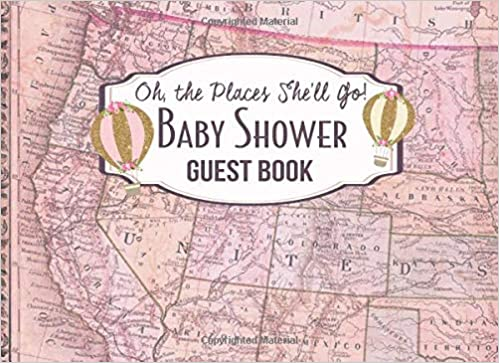 beb113976aa Oh the Places She Will Go Baby Shower Guest Book  Advice for Parents and  Gift Log  M2MParty Designs  9781729075241  Amazon.com  Books