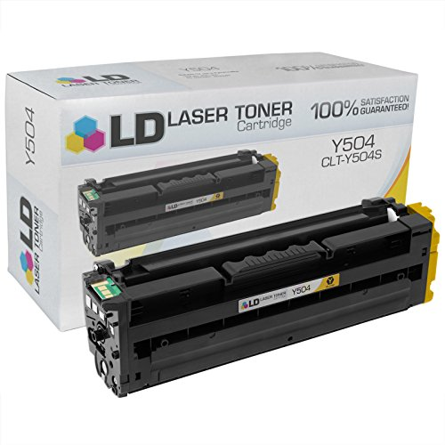 LD © Compatible Replacement for Samsung CLT-Y504S Yellow Laser Toner Cartridge for use in Samsung CLP-415NW, CLX-4195FN, CLX-4195FW, SL-C1810W, and SL-C1860FW Printers