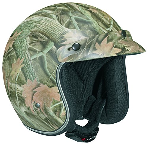 Vega X380 Open Face Helmet with Forest Graphic (Camo, ()