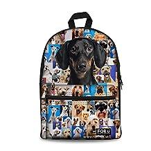 Bigcardesigns Boys Fashion Animal Dachshund Backpack