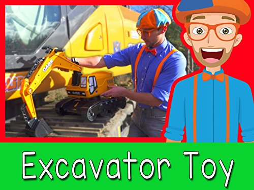Learn about Diggers for Kids with Blippi - Parts of an Excavator