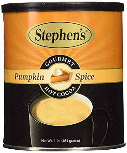 - Stephen's Gourmet Hot Cocoa, Pumpkin Spice, 16-ounce Can