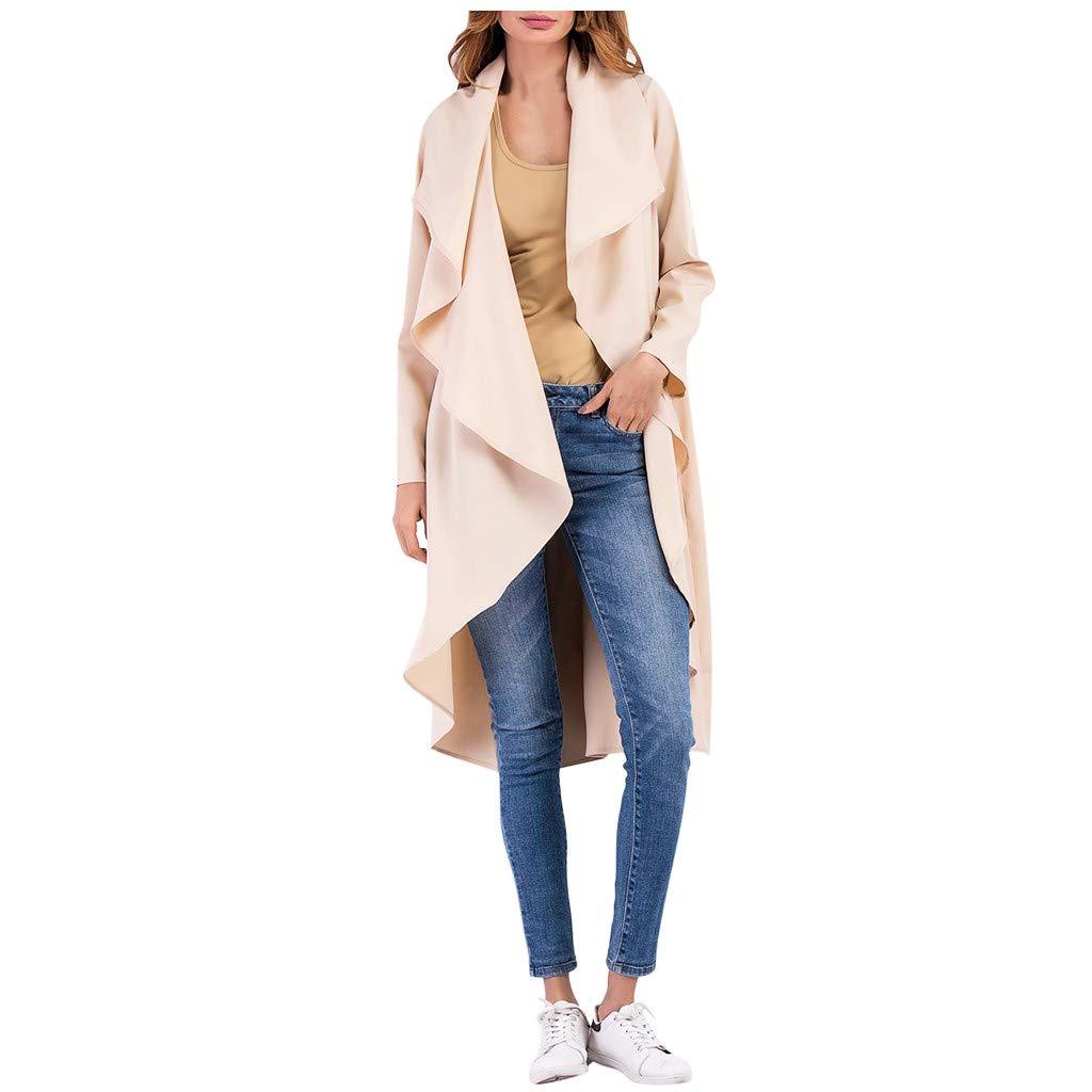 ZOMUSAR Women's Coat, Women Work Solid Vintage Winter Office Long Sleeve Button Woolen Jacket Coat by ZOMUSAR