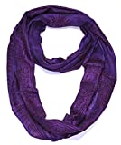 Cheap Women's Printed Ohm Prayer Meditation Yoga Infinity Scarf