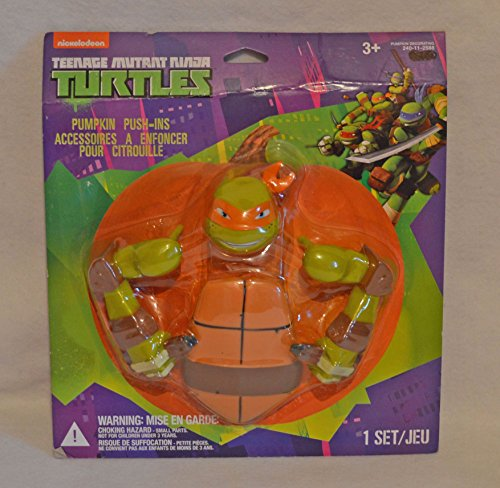 Teenage Mutant Ninja Turtles Pumpkin Push-in Decorating Kit