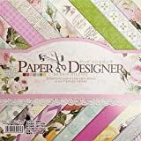 levylisa 8x8 Cardstock Paper Pad Designer Paper Pad Floral Scrapbook Paper Decorative Craft Paper (40 Sheets) (007)