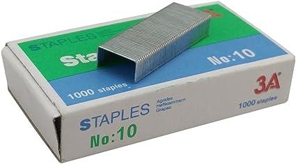 Modelo 10 x1000 55706 Petrus Grapas 1000 grapas 10 hojas Largo 4 mm 55700 Grapas galvanizadas escolar//oficina modelo 202