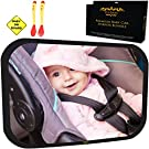 Baby Car Mirror Bundle - Fully Assembled & Adjustable - Premium Back Seat Baby Mirror for Car