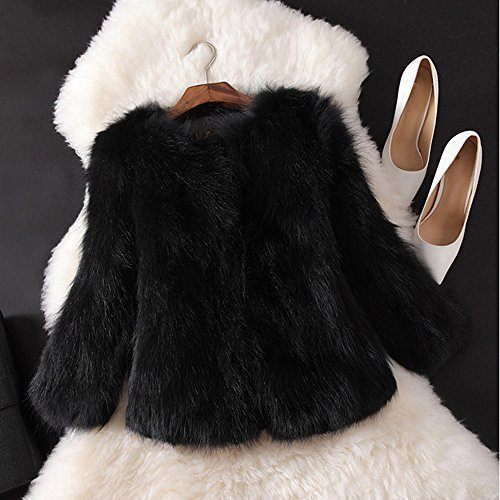 Fluffy Manteaux Fourrure Fausse D'Ext Veste Doux Veste Fourrure Mode Hiver Manteau De ADESHOP Femmes PFnxXdZ