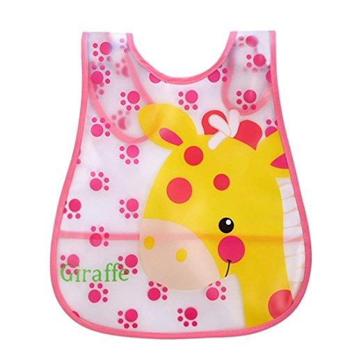 Baby Girls Boys Bibs, VEKDONE Cute Kid Infant Bibs Baby Soft Cartoon Bib Waterproof Saliva Dripping Bibs (D)
