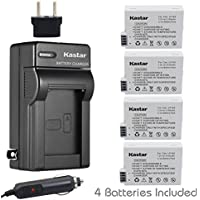 Kastar Battery (4-Pack) and Charger Kit for Canon LP-E8, LPE8, LC-E8E work with Canon EOS 550D, EOS 600D, EOS 700D, EOS Rebel T2i, EOS Rebel T3i, EOS Rebel T4i, EOS Rebel T5i Cameras and BG-E8 Grip