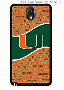 Case for Samsung Galaxy Note 3 N9005 Cover Miami Hurricanes AgnesPro Design for Men 4453 by icecream design