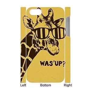 Giraffe Custom 3D Cover Case for Iphone 4,4S,diy phone case ygtg561812