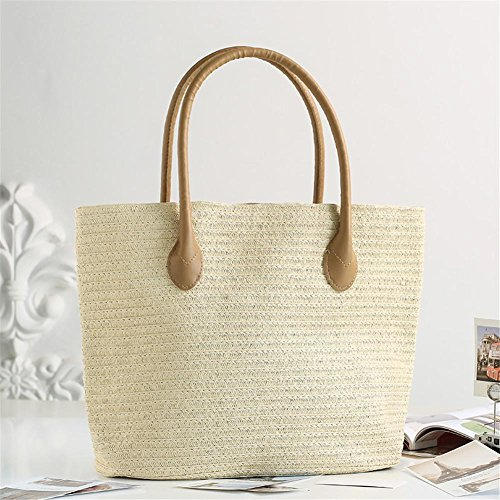 Ibaste Straw Totes Handmade Shoulder Fabric Bag Women Simple Bag Bag Fashion Beach Bag New And Casual Ptr6t