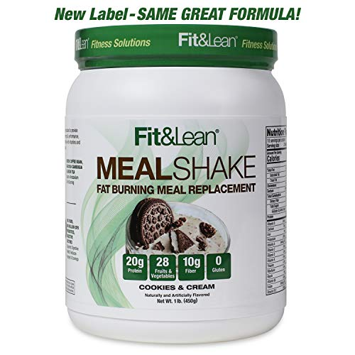 Fit & Lean Fat Burning Meal Replacement, Cookies & Cream, 1 lb