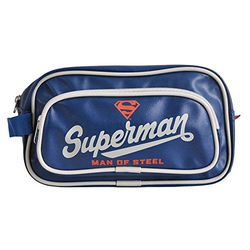 Superman Man Of Steel blu di lavaggio da toeletta corsa sacchetto Justice League