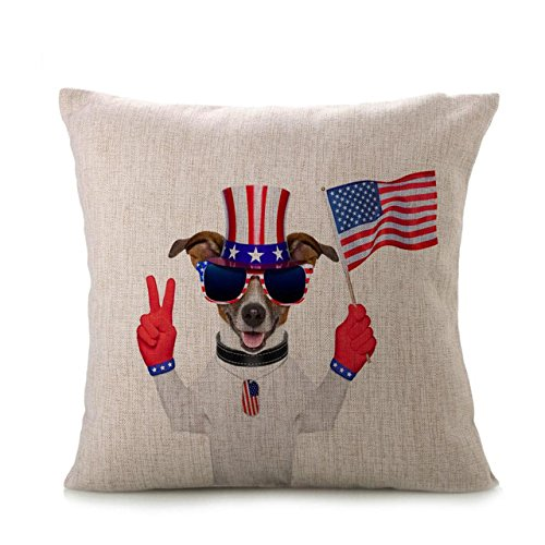2017 Independence Day Pillow Case,Elevin(TM)New Vintage Patriotic American Flag Pillow Cases Cotton