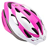 Schwinn Thrasher Bike Helmet, Lightweight Microshell Design, Adult, Pink/White