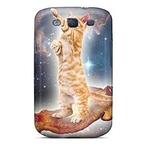 Premium Bacon Space Kitty Back Covers Snap On Cases For Galaxy S3
