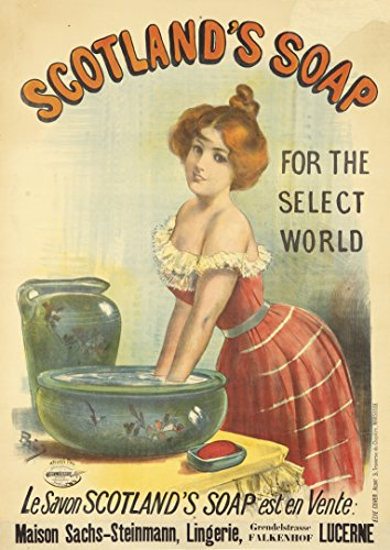 Price comparison product image Scotland's Soaped Vintage Retro Tin Sign Advertising From 1890 thru 1930s