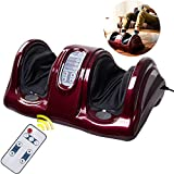 Zeny Shiatsu Kneading and Rolling Foot Massager Machine w/ Remote Control Personal Home