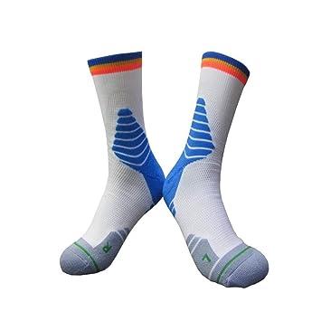 XUHAHAWZ Calcetines/Calcetines con Fondo Grueso/Toalla/Calcetines Profesionales/Baloncesto/Hombre