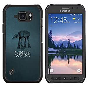 LECELL--Funda protectora / Cubierta / Piel For Samsung Galaxy S6Active Active G890A -- Winter Is Coming - A A --