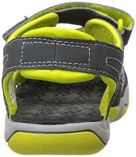Sandalo Con Due Cinturini In Cerca Di Avventura In Legno (bimbo / Bimbo) Grigio / Verde