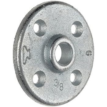 "Anvil 8700164356, Malleable Iron Pipe Fitting, Floor Flange, 1"" NPT Female, Galvanized Finish"