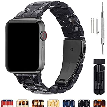 Fullmosa Compatible Apple Watch 40mm/38mm/42mm/44mm, Bright Resin Apple Watch Band for iWatch Band Series 5/4/3/2/1, Hermes, Nike+, Edition, Sport, ...