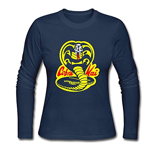 AquarScorp Cobra Kai Logo Ladies Basic Long Sleeve (Cobra Kai Logo)