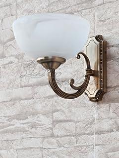 Schne Jugendstil Wohnzimmerlampe In Bronze E14 230V Mit Zugschnur Schalter Wandleuchte Wandlampe