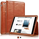 "KAVAJ leather case cover ""Berlin"" for the Apple iPad Mini 3, iPad mini 2 (Retina Display) and iPad mini cognac brown - genuine leather with stand-up feature. Thin Smart Cover as premium accessory."