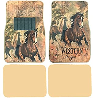 Cowgirl Up Trim To Fit Molded Front Floor Mats Set
