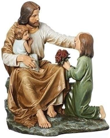 Roman 14 H JESUS WITH 2 CHILDREN