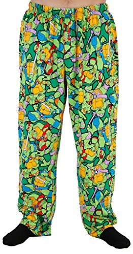 Mens Teenage Mutant Ninja Turtles Pajamas (Teenage Mutant Ninja Turtles Adult Lounge Pants (Adult Small))