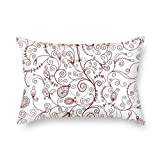 KooNicee throw cushion covers 12 x 20 inches / 30 by 50 cm(twin sides) nice choice for dinning room,monther,living room,divan,festival leaf